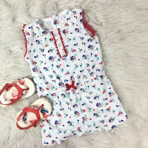 Carters Baby Girl Romper One Piece Floral Pattern